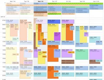 Планирование времени на неделю