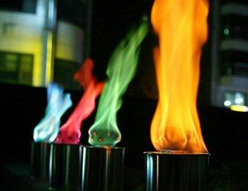 Различный цвет огня